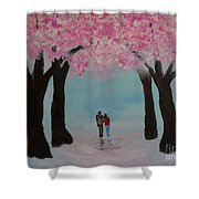 Blossoming Romance Shower Curtain