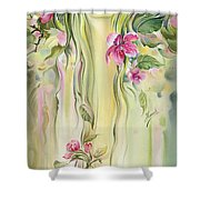 Blossoming Spring - Crab Apple Shower Curtain