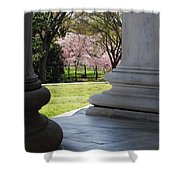 Blossoms Of The Columns Shower Curtain