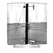 Blot On The Landscape Shower Curtain
