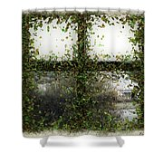 Blotted Out Shower Curtain
