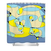 Blow Fish Shower Curtain
