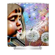 Blowing Blessings Shower Curtain