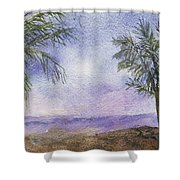 Blowing By The Ocean Shower Curtain