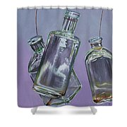 Blowing Rock Bottles Shower Curtain