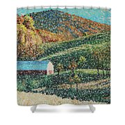 Blowing Rock Impressionist Shower Curtain