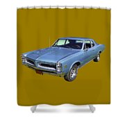Blue 1966 Pointiac Lemans Shower Curtain