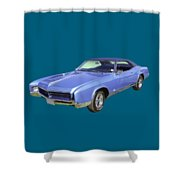 Blue 1967 Buick Riviera Shower Curtain
