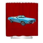 Blue 1971 Oldsmobile Cutlass Supreme Convertible Shower Curtain