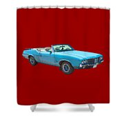 Blue 1971 Oldsmobile Cutlass Supreme Convertible Shower Curtain