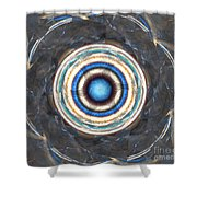 Blue Abalone Sphere Shower Curtain