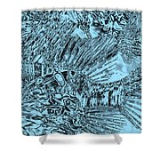 Blue Abstract - Lionfish Shower Curtain