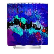 Blue Abstract 55698 Shower Curtain