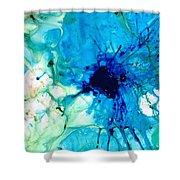 Blue Abstract Art - A Calm Energy - By Sharon Cummings Shower Curtain