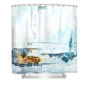 Blue Abstract 12m1 Shower Curtain
