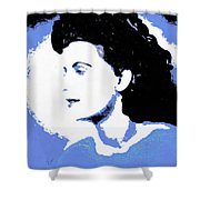 Blue - Abstract Woman Shower Curtain