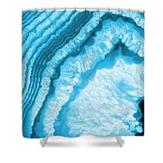 Blue Agate Slice Shower Curtain