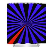 Blue And Black Abstract # 3 Shower Curtain