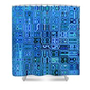 Blue And Green Quilt Shower Curtain
