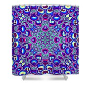 Blue And Pink Wallpaper Fractal 71 Shower Curtain