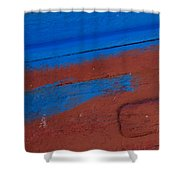 Blue And Red Abstract Shower Curtain