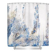 Blue And White Art - Ice Castles - Sharon Cummings Shower Curtain