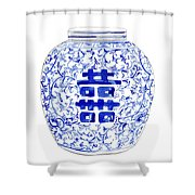 Blue And White Ginger Jar Chinoiserie 8 Shower Curtain