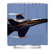 Blue Angel 4 Pulling A Vapor Trail Into The Empty Air... Shower Curtain