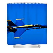 Blue Angel Fly By Shower Curtain
