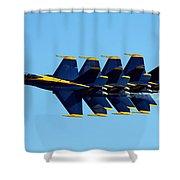 Blue Angels 1-4 Shower Curtain