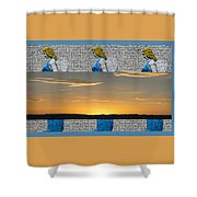 Blue Angels At Sunset Shower Curtain
