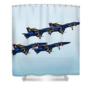 Blue Angels Carrier Landing Shower Curtain