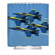 Blue Angels Diamond Formation Shower Curtain