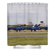 Blue Angels Flight Line Shower Curtain