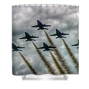 Blue Angels In Formation Shower Curtain
