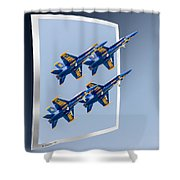Blue Angels - Oof Shower Curtain