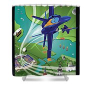 Blue Angels Over Annapolis Usna Shower Curtain