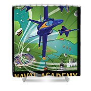 Blue Angels Over Usna Shower Curtain