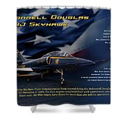 Blue Angels Ta-4j Skyhawk Shower Curtain