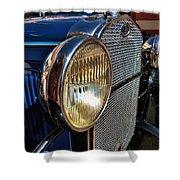 Blue Antique Auto Shower Curtain