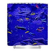 Blue Aquarium Shower Curtain