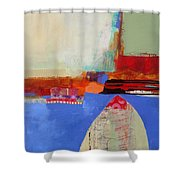 Blue Arch Shower Curtain