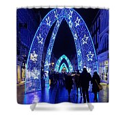 Blue Archways Of London Shower Curtain