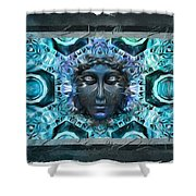 Blue Atheahon  Shower Curtain