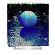 Blue Ball 4 Shower Curtain