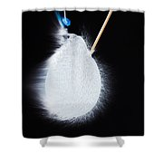 Blue Balloon Pop  Shower Curtain