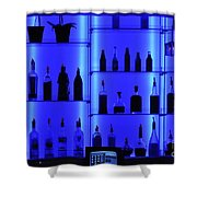 Blue Bar Shower Curtain