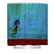 Blue Barge Shower Curtain