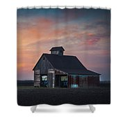 Blue Barn Shower Curtain