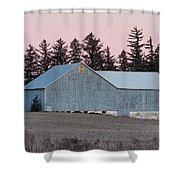 Blue Barn Shower Curtain
